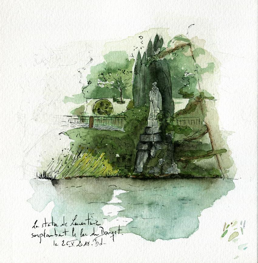 003-Le Bourget - statue lamartine