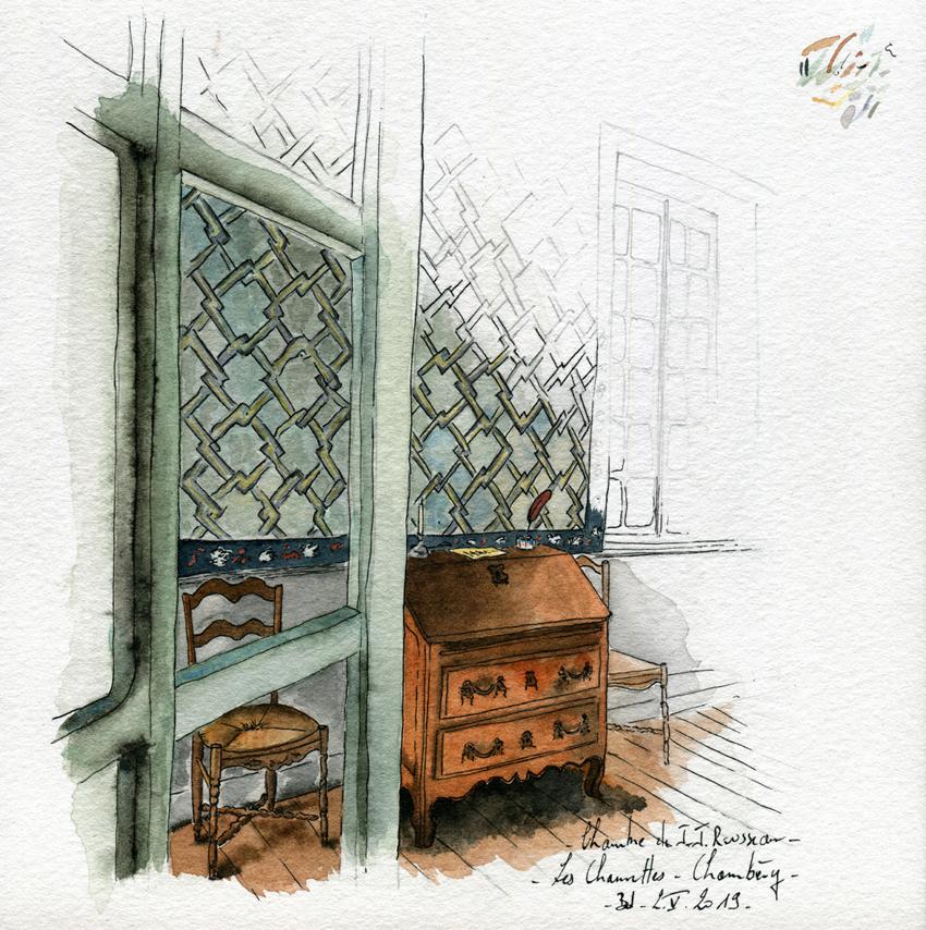 006-Savoie - la chambre de Rousseau